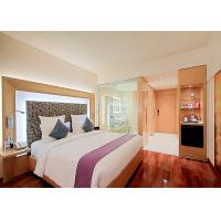 Quality Modern 3 Star Hotel Furniture , Wooden Double Beds For Bedroom for sale