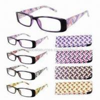 China Classic Plastic Reading Glasses with Pouch and CE/FDA Marks on sale