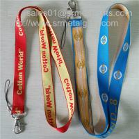 Best Custom woven lanyard factory direct promotional jacquard logo woven lanyard straps, wholesale
