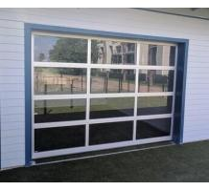China Extruded Frame Aluminium Glass Garage Doors , Modern Glass Garage Doors on sale