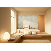Best Modern White PU 3D Decorative Wall Panel for Bedroom , KTV wholesale