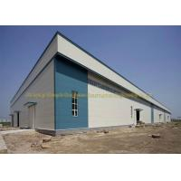 Quality Waterproof Warehouse Steel Structure Grade Q235B / Q345B Prefab Warehouse for sale