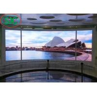 China Interior SMD2121 fixing usage iron and steel cabinet  full color SMD LED screen 3 years warranty on sale
