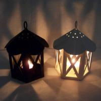 China Lantern Votive mental +glass Candle holder-Railroad Barn Lamp on sale