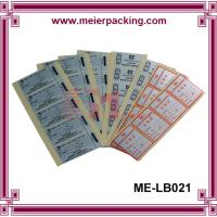 Best Full Sheet Labels - Printable Sticker Paper/CustomSquare QC Pass Paper Label & Sticker ME-LB021 wholesale