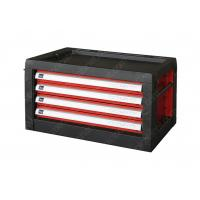 China Steel Multifunctional Tool Box Top Cabinet , Red Black Metal Tool Chest With Drawers on sale