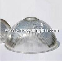 Quality Ribbed glass industrial pendant light shades for sale