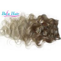 China Brazilian Body Wave Remy Clip In Hair Weave Colored Ombre Hair Extensions on sale