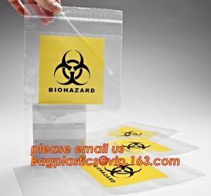 Quality Biohazard LDPE lab specimen zipper bag customized Printing medicine bags, Pathology Specimen Medical Zipper Bag With Pri for sale