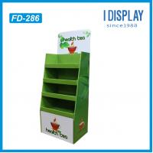 Best Supermarket equipment layer floor cardboard display for tea wholesale