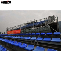 Quality Outdoor Stadium Bleacher Seating Bench Aluminum Grandstand for sale