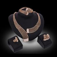 Quality Big set african jewelry sets wholesale/zinc alloy imitation gold filled jewelry set for sale