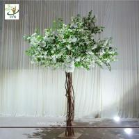 Quality UVG Floor standing artificial cherry blossom wedding decoration trees for stage decor for sale