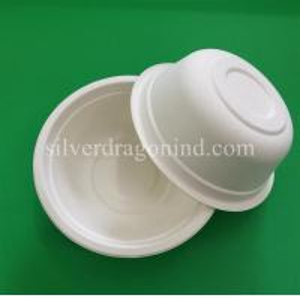 Best Biodegradable Disposable Sugarcane Pulp Paper Bowl, Food Grade, 500ml wholesale
