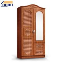 China Custom Interior Wooden Louvered Doors Mirrored Front With MDF Board Materials on sale