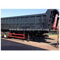 Quality 3 axles side dumper trailer / hydraulic tipper trailer in Algeria 100 tons Capacity for sale