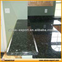 Quality green granite bar  ,granite bathroom vanity tops,shanxi black countertops,bowed vanity tops,slab top, for sale