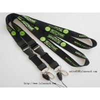 Quality Business Cheap Logo & Text Words Silk Screen Print Lanyards with Release Buckle for sale