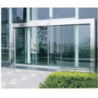 China Remote Control Automatic Sliding Glass Doors with wood or stainless Steel Frame on sale