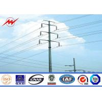 Quality 12m Hot Dip Galvanized Steel Transmission Poles For Power Distribution SGS Inspection for sale