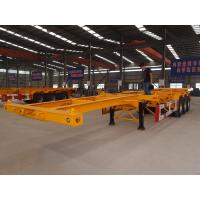 China Titan 2axle and 3 axle container trailer chassis used for transporting 20ft , 40ft , 45ft  , 53ft container on sale