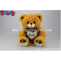 China 2014 Hot Sale 12 Corporate gift Brown Stuffed Teddy Bear With Heart Pillow on sale