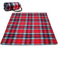 Quality Checkered Portable Beach Mat , Water Repellent Pocket Picnic Blanket for sale