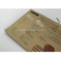 Carrier Branded Brown Paper Gift Bags Printed With Logo Personalised Custom Made