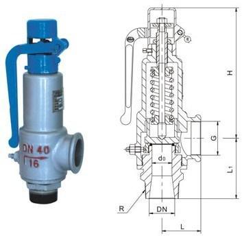 Male Thread Pressure Safety Relief Valve (GAA27H)