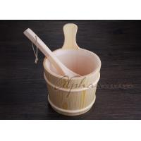 Best 3 L Nordic Type spa Bucket With Ladle For Traditional Sauna Room wholesale