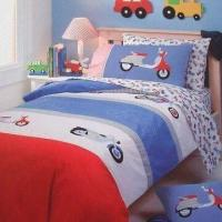 China Printed Babies Bedding Set, Includes Duvet Cover, Flat Sheet, Fitted Sheet and Pillow Cover on sale