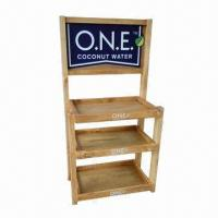 Quality Beverage Display Rack with Four Adjustable Feet and Knockdown Structure  for sale