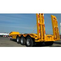 Quality 3 Axles Gooseneck Low Bed Trailer Transporter 70 Ton For Heavy Excavator Wheelloader for sale