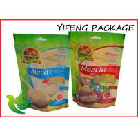 Best Oil Proof Green Ziplock Stand Up Pouches Gravure Printing For Food wholesale