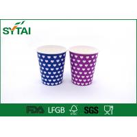 Best Eco - friendly Hot Drink Paper Cups Disposable , insulated paper coffee cups Single PE Coated wholesale