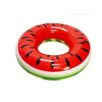 "Quality Watermelon Inflatable Swim Ring Massive Size 46"" X 46"" X 10"" Quick Inflation for sale"