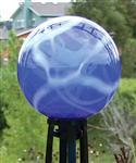 China Gardening Blue and White Swirl  balls with poly resin Gazing Ball Stands  on sale