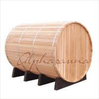 Quality Alpha Sauna Cedar Steam Sauna Kits With Harvia Elecrical Sauna Heater And Burning Stove Heater for sale