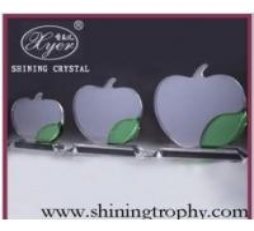 China Crystal Apple Award on sale