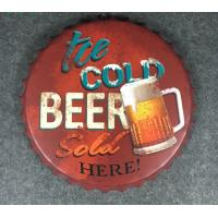 China Wall Craft Decor Beer Cap Wall Metal Plaque Wall Decors Beer Bottle Cap Restaurant Wall Plaque on sale