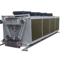 Quality Reversible Aluminum Fin Air Condenser Cooler 100kw 15 Ton Cooling Coil for sale