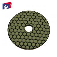 Quality Normal Hexagonal Shape Concrete Polishing Pads Resin And Diamond Powder Material for sale