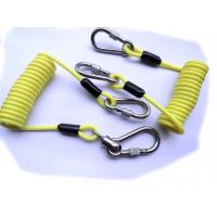 China 5.0mm Yellow PU Safety Tool Lanyards with Double Stainless Hooks on sale