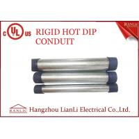 Quality RGD Galvanized Rigid Steel Conduit , 1/2 Inch 4 inch Electrical Conduit Tubing for sale