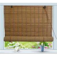 Quality Elegant PVC Bamboo Roll Up Window Blind Customized Length Hotel Use for sale