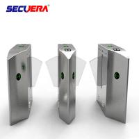 China Flap type automatic turnstile control board access control barcode wing turnstile for public transport on sale