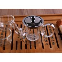 Best Heat Resistant Borosilicate Glass Teapot with Infuser Lid Coffee Tea Leaf Herbal 360ML wholesale