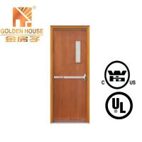 China UL WHI listed wooden fire rated door on sale