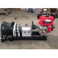 Quality 50KN Single Capstan Diesel Cable Winch 9HP Engine Power With 186F Diesel Engine for sale