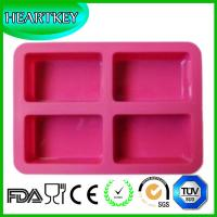 Quality 2015 New 4 Squares Silicone Cake Baking Pan Chocolate Jelly Ice Cube Cake Baking Tools for sale